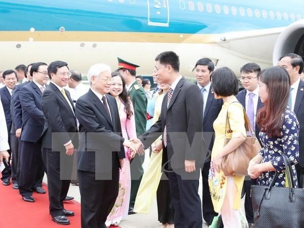 缅甸总统举行隆重仪式 欢迎越共中央总书记阮富仲到访 hinh anh 1