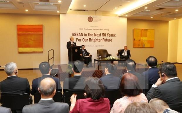 阮富仲总书记探访印尼战略与国际问题研究中心并发表重要讲话 hinh anh 1