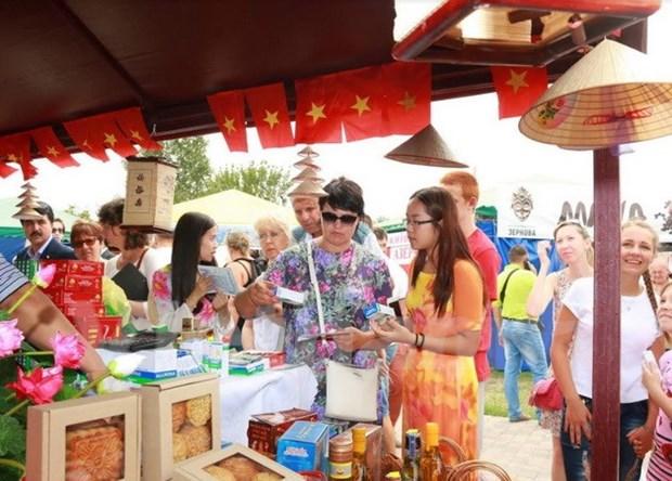 越南参加乌克兰规模最大的传统展销会 hinh anh 1