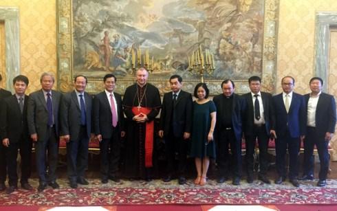 越南跨部门工作代表团对梵蒂冈进行工作访问 hinh anh 1