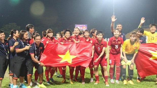 第29届东南亚运动会:越南女足队以6-0击败马来西亚女足队夺得金牌 hinh anh 1
