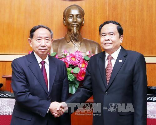 越南祖国阵线与中国政协加强合作关系 hinh anh 1