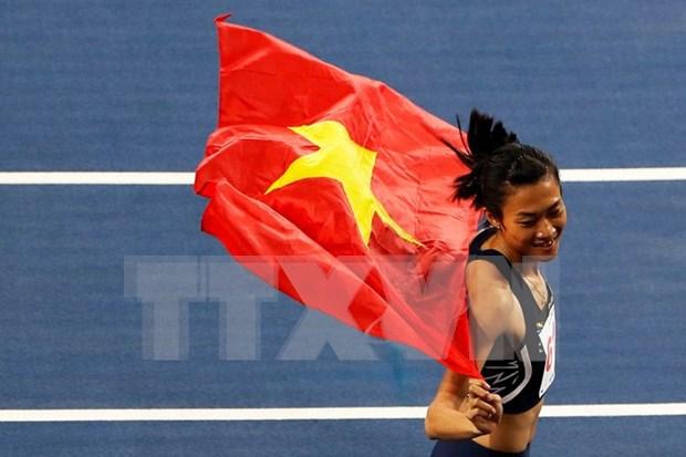 第29届东南亚运动会:越南田径连续夺金创纪录 hinh anh 1
