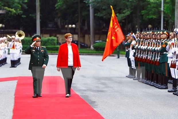澳大利亚联邦国防部长对越南进行正式访问 hinh anh 1