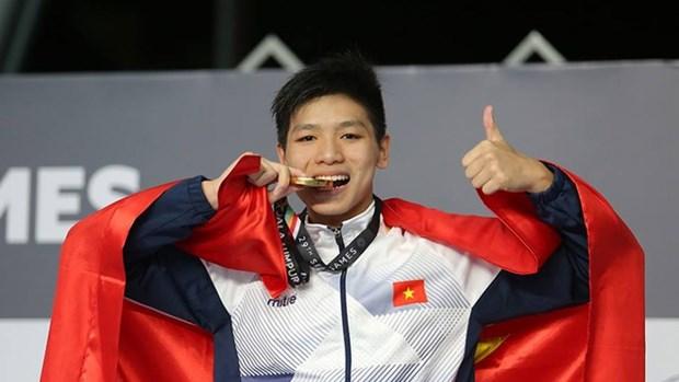 第29届东运会:越南游泳运动员阮友金山夺金 hinh anh 1