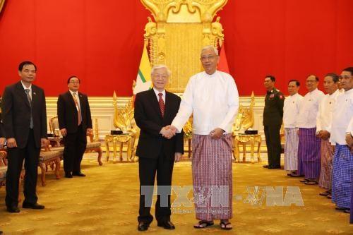 越南与缅甸发表联合声明(全文) hinh anh 1