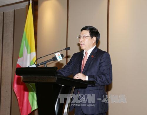范平明副总理与缅甸一流企业代表交流 hinh anh 1