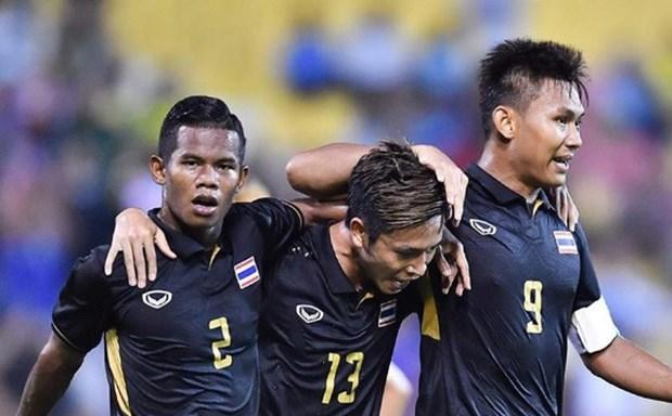第29届东南亚运动会男足比赛:泰国队以1比0击败缅甸队 晋级决赛 hinh anh 1