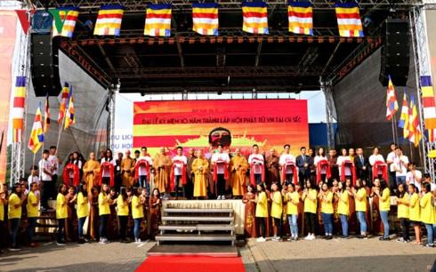 旅居捷克越南佛教信徒协会举行成立10周年纪念典礼 hinh anh 1