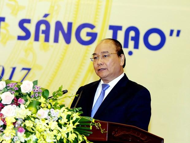 阮春福:激发创新兴趣 培养智慧才能 把越南建设成繁荣富强的国家 hinh anh 1
