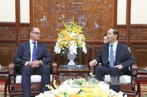 越南国家主席陈大光会见奥地利驻越大使 hinh anh 1