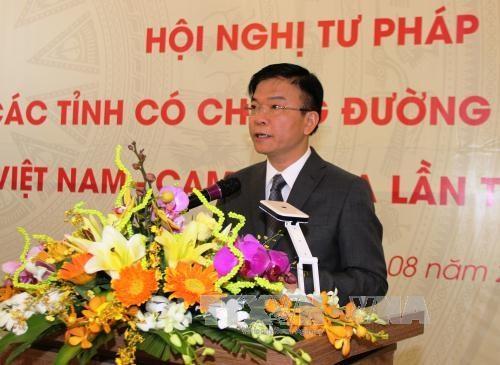 越柬建交50周年:深化边境省份司法机关之间的司法合作 hinh anh 3