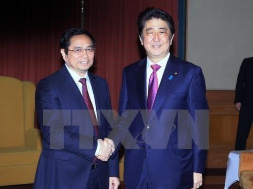 日本首相和众议院议长会见越南共产党代表团 hinh anh 1