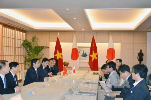 范明正会见日本参议院议长伊达忠一和外务大臣河野太郎 hinh anh 2