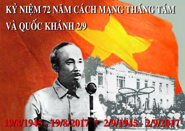 八月革命和9•2国庆72周年纪念活动在国内外各地举行 hinh anh 1