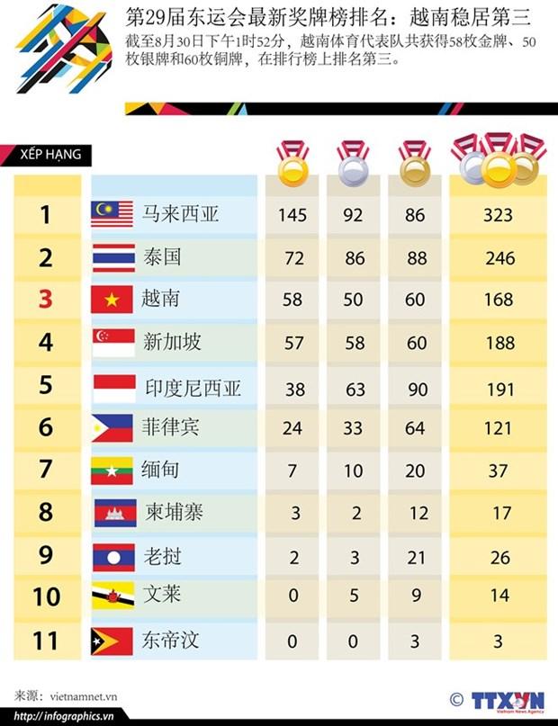 第29届东南亚运动会圆满闭幕 越南体育代表团取得优异成绩 hinh anh 2