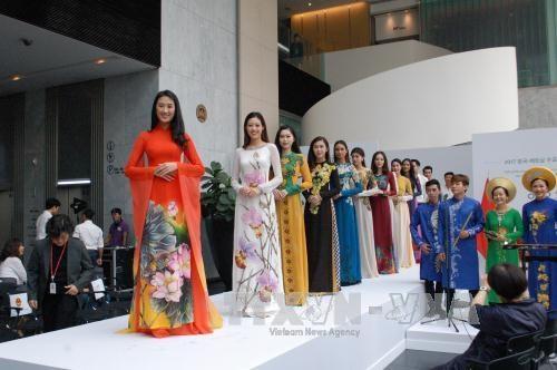 奥黛系列亮相韩国 展现越南民族服装魅力 hinh anh 2