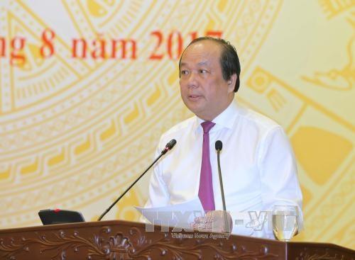 越南政府8月份例行记者会:举全系统之力实现经济增长6.7%的目标 hinh anh 1