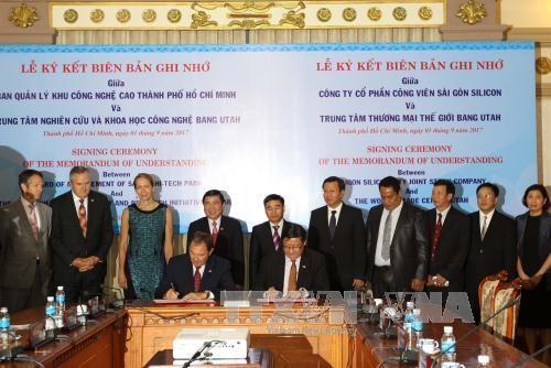 胡志明市与美国犹他州促进贸易与高技术合作 hinh anh 1