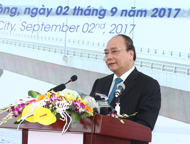 设在越南海防市的东南亚最长跨海大桥正式投入运行 hinh anh 1