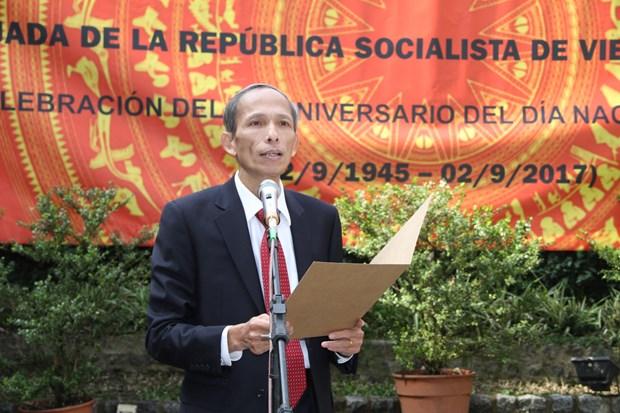 越南驻外大使馆纷纷举行国庆招待会 热烈 庆祝国庆72周年 hinh anh 2