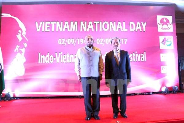 越南驻外大使馆纷纷举行国庆招待会 热烈 庆祝国庆72周年 hinh anh 1