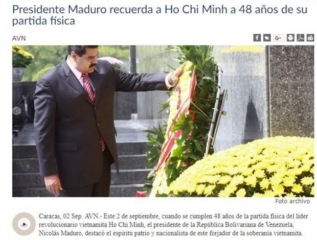 委内瑞拉总统歌颂胡志明主席 hinh anh 1