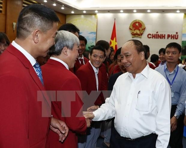 政府总理阮春福会见第29届东南亚运动会越南体育代表团各成员 hinh anh 3