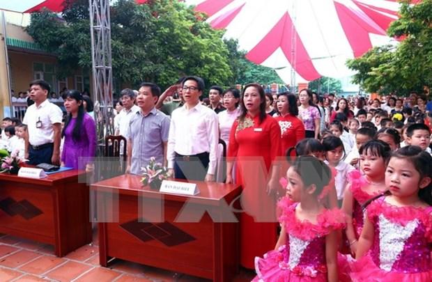 越南党和国家领导人出席各学校开学典礼 hinh anh 2