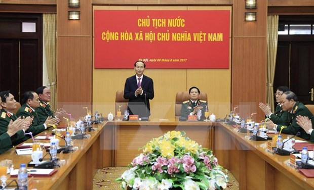 国家主席陈大光在国防部指导工作 hinh anh 1