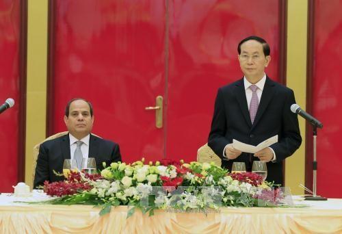 越南国家主席陈大光设宴招待埃及总统 hinh anh 1