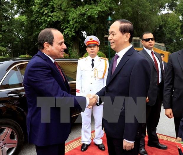 埃及总统塞西圆满结束对越南进行国事访问 hinh anh 1