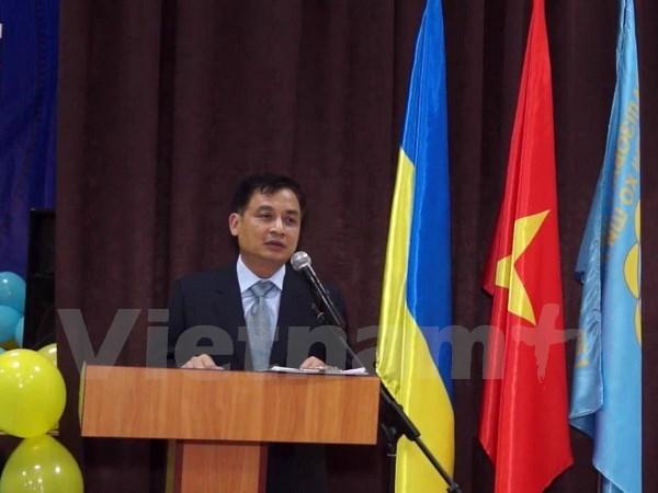乌克兰基辅市越南语班正式开班 hinh anh 1
