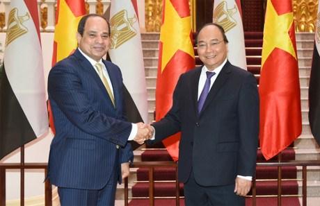 阮春福总理会见埃及总统塞西 hinh anh 1