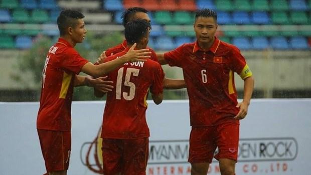 东南亚U18足球锦标赛:越南队大胜文莱队取得开门红 hinh anh 1