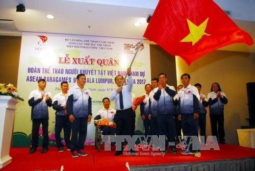 2017年东盟残疾人运动会越南体育代表团出征仪式在胡志明市举行 hinh anh 1