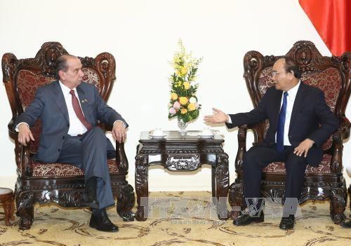越南政府总理阮春福会见巴西外交部部长 hinh anh 1
