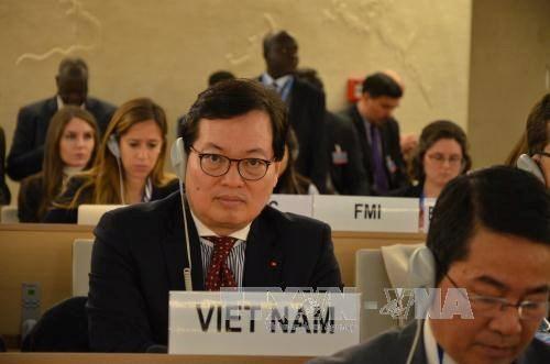 越南代表出席联合国人权理事会第36次会议 hinh anh 1