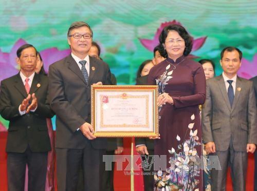 国家副主席邓氏玉盛出席越南最高人民法院传统日72周年纪念活动 hinh anh 1