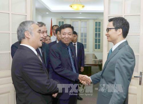 政府副总理武德儋会见柬埔寨《柬新社》副社长 hinh anh 1