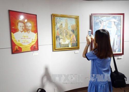越老柬美术展在岘港市举行 hinh anh 1