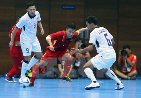 2017亚洲室内运动会:越南足球队志在必得 hinh anh 1