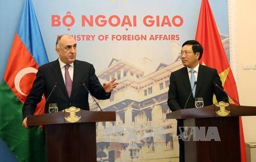 越南外交部部长范平明与阿塞拜疆外交部长举行会谈 hinh anh 1
