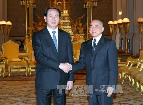 柬埔寨国王向越南国家主席陈大光致国庆贺电 hinh anh 1