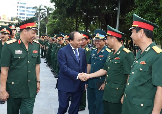 越南政府总理阮春福出席国防学院2017-2018学年开学典礼 hinh anh 1