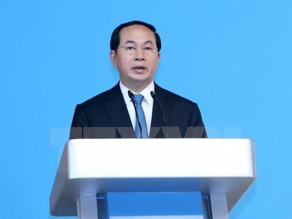 越南国家主席陈大光向第38届东盟议会联盟大会致贺电 hinh anh 1