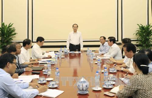 陈大光指导各有关部门为2017年APEC领导人会议周做好准备 hinh anh 1