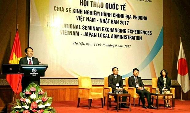 越南与日本互相分享地方行政经验 hinh anh 1