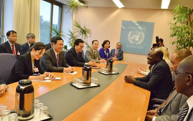 越南政府副总理王廷惠出席越南加入联合国40周年纪念仪式 hinh anh 2