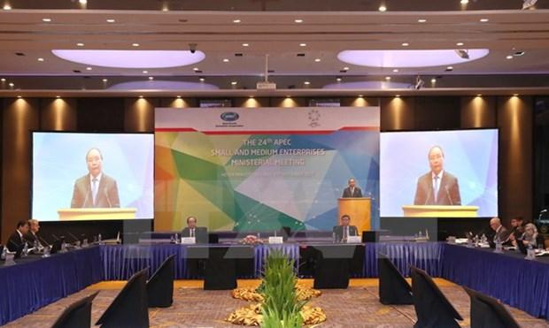 政府总理阮春福出席第24次APEC中小型企业部长会议 hinh anh 1